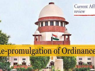 Re-promulgation of Ordinances