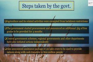 Steps taken by the govt. Info 1