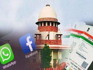 Aadhaar and Social Media Accounts
