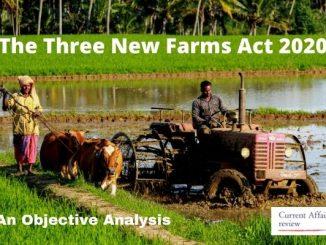 The Three New Farms Act 2020