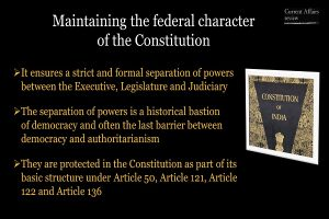Maintaining the federal character of the Constitution Info 3