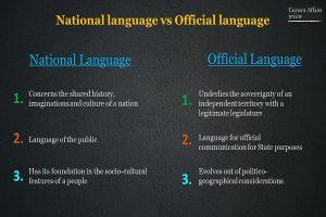National language vs Official language Info 4