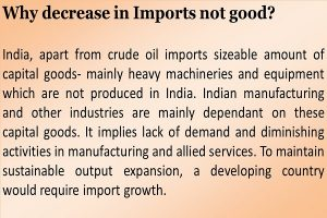 Why decrease in Imports not good?